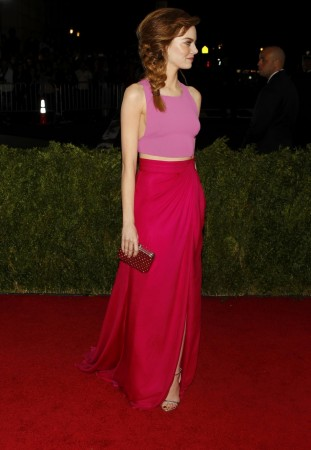 Actress Emma Stone arrives at the Metropolitan Museum of Art Costume Institute Gala Benefit