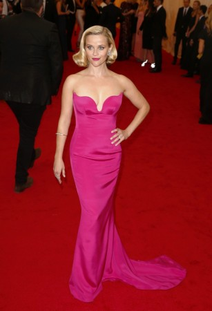Actress Reese Witherspoon arrives at the Metropolitan Museum of Art Costume Institute Gala Benefit