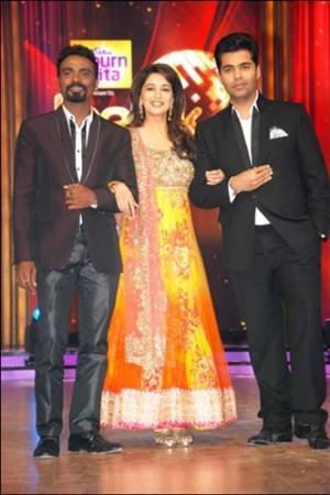 Star choreographer Remo D'Souza, Madhur Dixit and Karan Johar