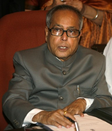 India's Finance Minister Pranab Mukherjee sits before giving the final touches to the federal budget 2010/11 in New Delhi February 25, 2010.
