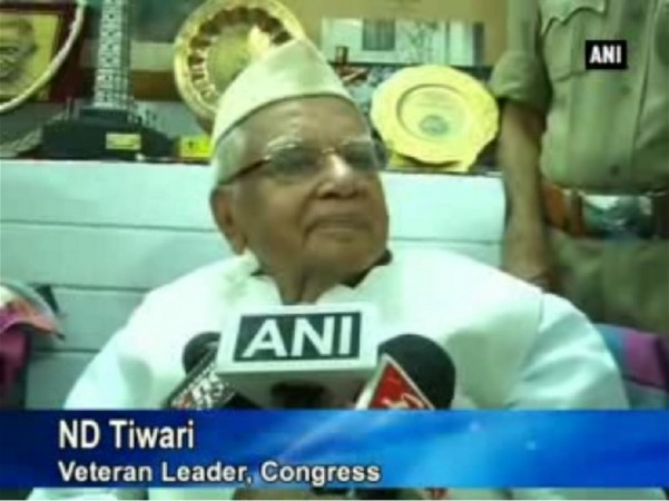 Screenshot of ND Tiwari from ANI Video