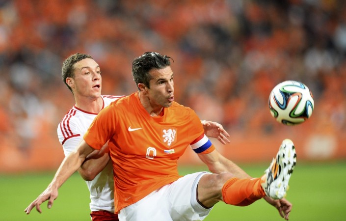 Holland striker Robin van Persie