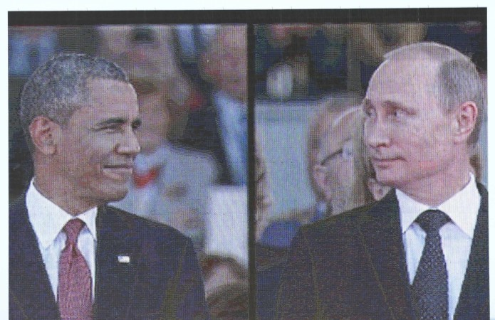 At the D-Day celebration in France, Obama and Putin avoided each other. But Obama managed to say something to the Russian leader.