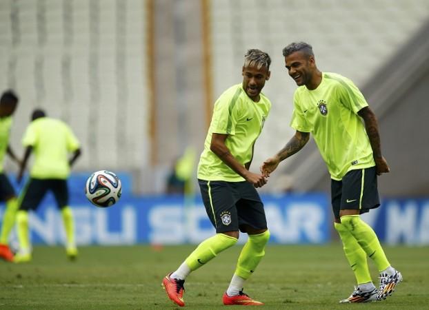 Neymar Dani Alves Brazil