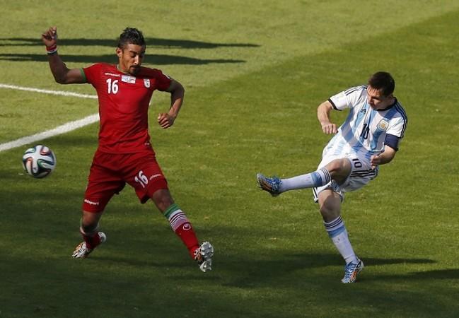 Lionel Messi Argentina Iran Reza Ghoochannejad