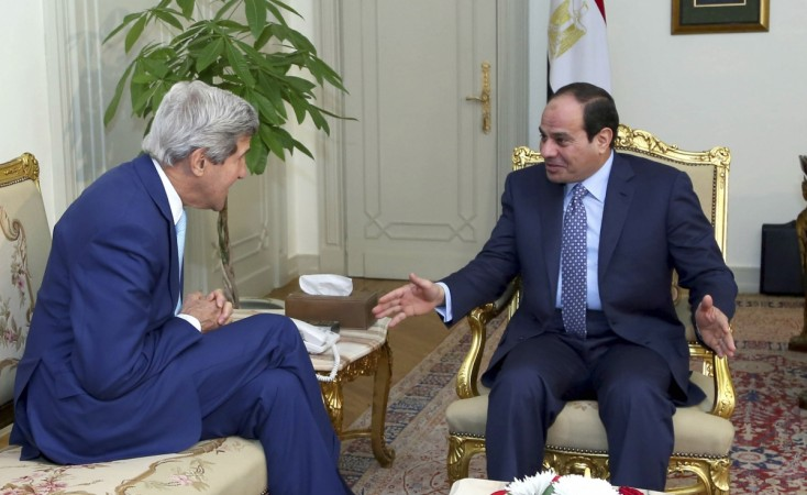 Egyptian President al-Sisi meets U.S. Secretary of State Kerry in Cairo