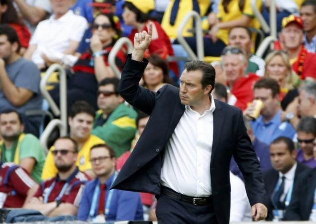 Belgium head coach Marc Wilmots