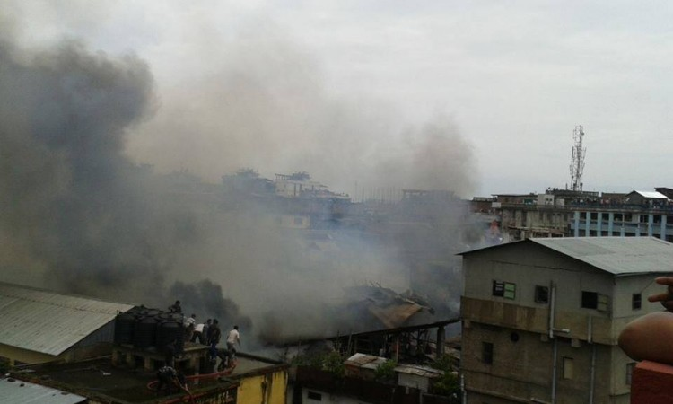 Fire at Imphal, Manipur