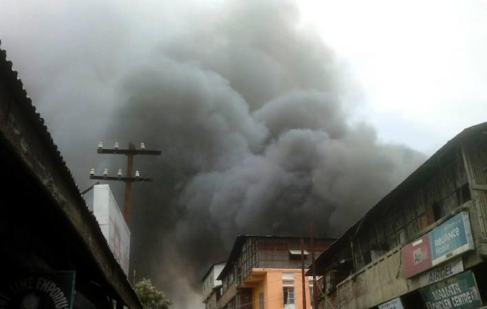 Fire breaks out in Manipur