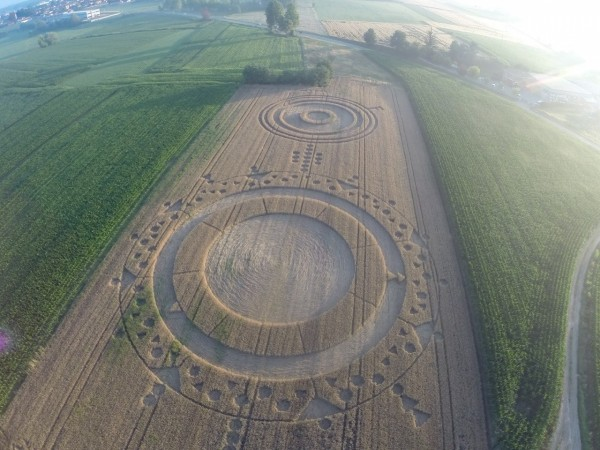 Alien Work or an UFO? Giant Crop Circle Appeared in Italy Overnight (Facebook/Francesco Grassi)