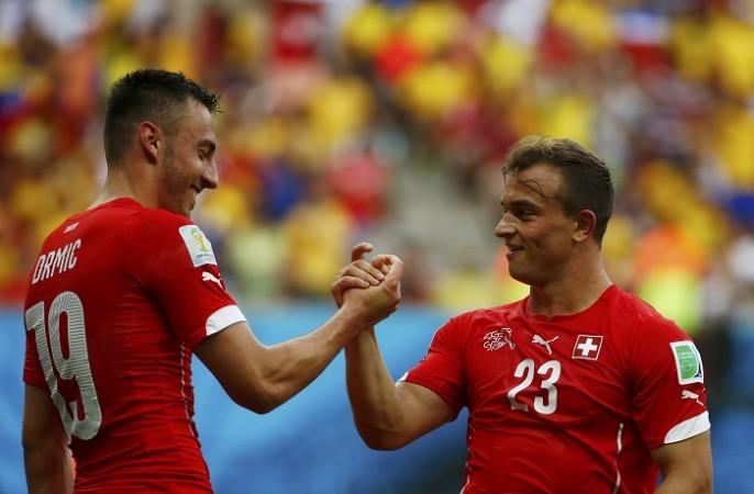 Xherdan Shaqiri Josip Drmic Switzerland