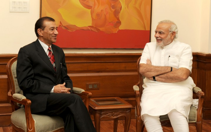 PM Narendra Modi with Nagaland Governor Ashwani Kumar