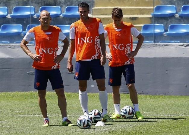 Robben Van Persie Verhaegen Netherlands