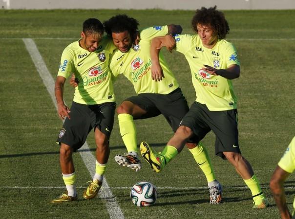 Brazil Neymar Marcelo David Luiz