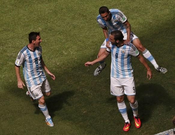 Lionel Messi Gonzalo Higuain Angel Di Maria Argentina