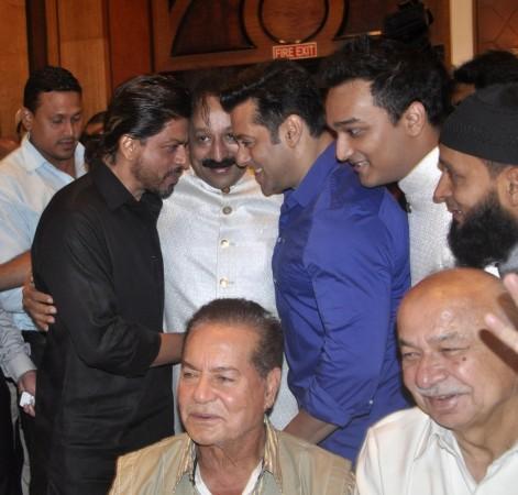 Shah Rukh and Salman Khan with Baba Siddiqui