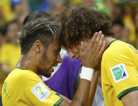 Neymar David Luiz Brazil