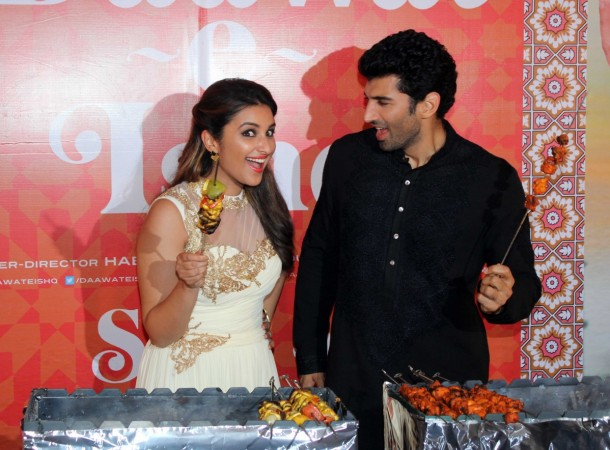 Parineeti Chopra and Aditya Roy Kapur at the trailer launch of 'Daawat-e-Ishq'