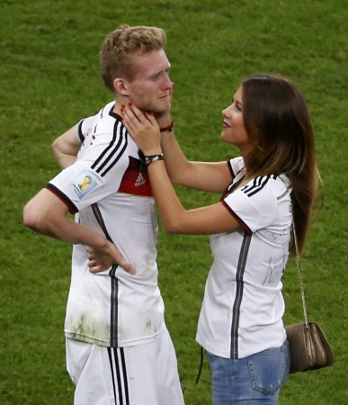Andre Schuerrle and Montana Yorke