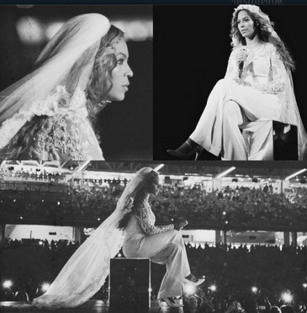 Beyonce during the On the Run concert