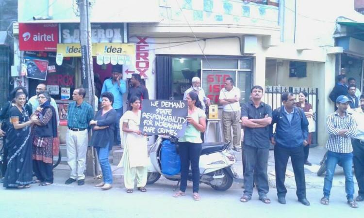 Protest in Bangalore