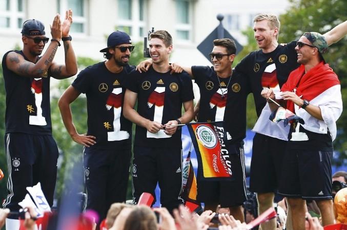 Germany Boateng Khedira Ozil Mertesacker Podolski