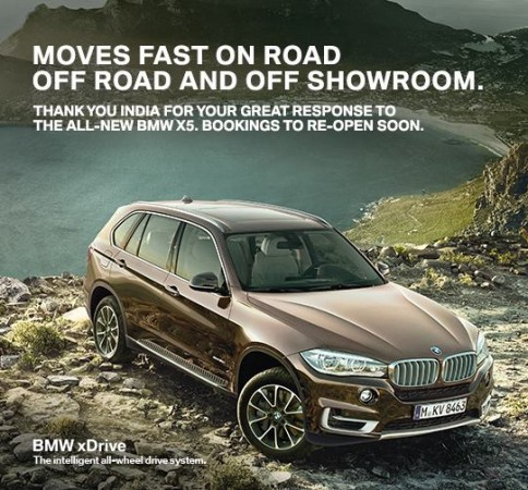 BMW X5 Bookings Closed Temporarily in India