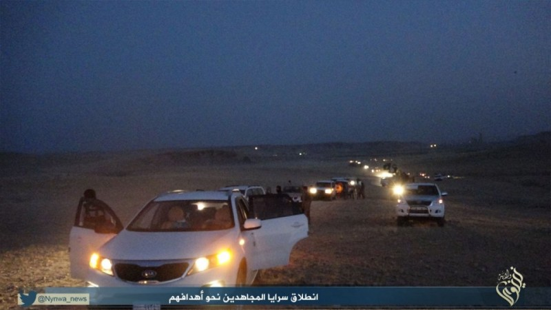 Islamic State militants at the Sinjar border