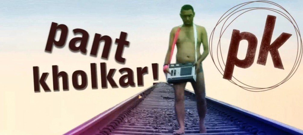 An Aamir Khan fan poses nude after seeing 'P.K.' poster
