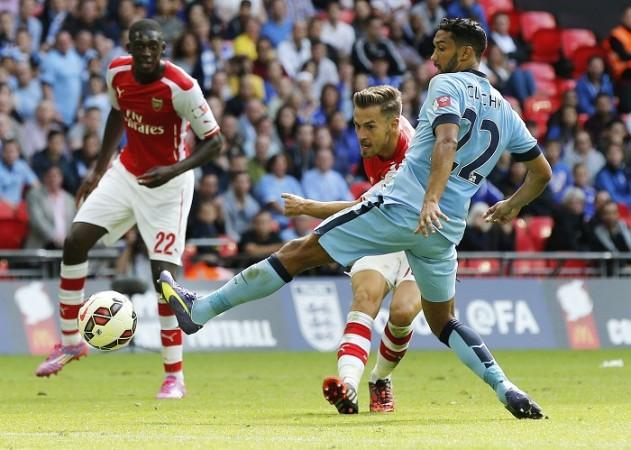 Aaron Ramsey Yaya Sanogo Arsenal Gael Clichy Manchester City