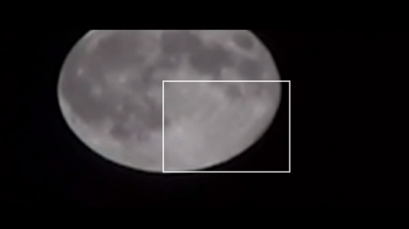Ufo Sighting Bizarre Alien Craft Spotted Passing By Supermoon On