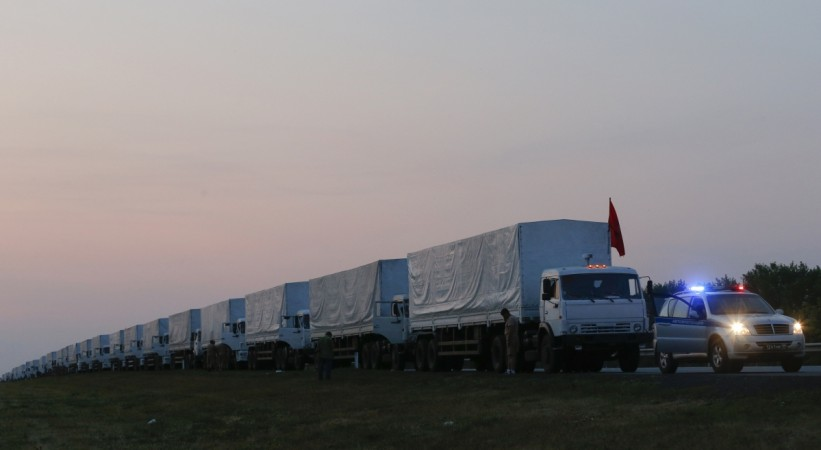 Kiev has said it would not allow Russian Convoy of 'humanitarian aid' to enter Ukraine as doubt grows of Moscow's intentions.