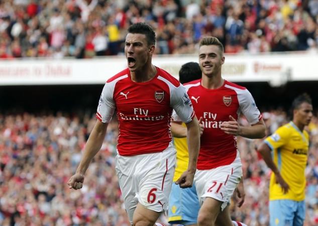 Laurent Koscielny Calum Chambers Arsenal