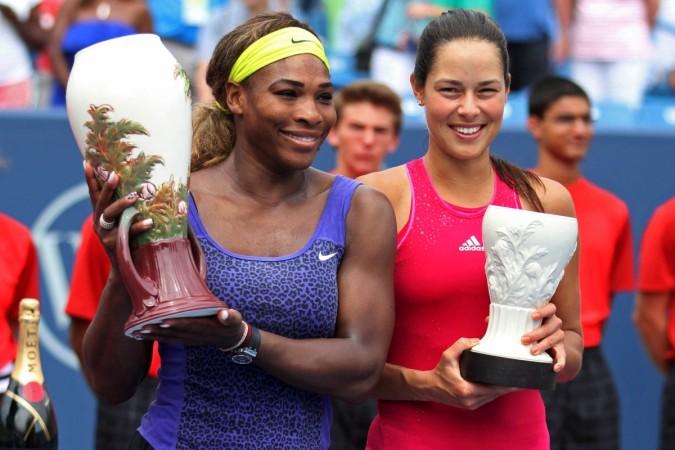 Serena Williams and Ana Ivanovic