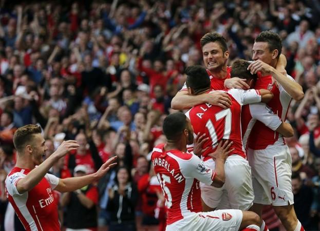 Giroud Koscielny Sanchez Ramsey Chambers Oxlade-Chamberlain Arsenal
