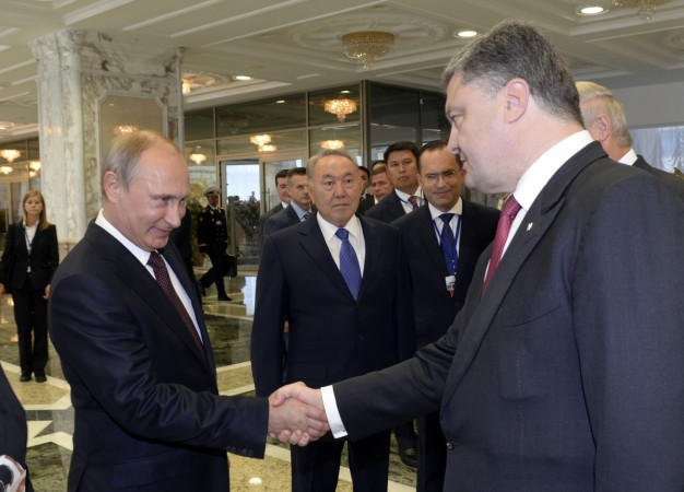 Russian President Vladimir Putin has thrown the onus of bringing about calm in Eastern Ukraine to the Kiev government.