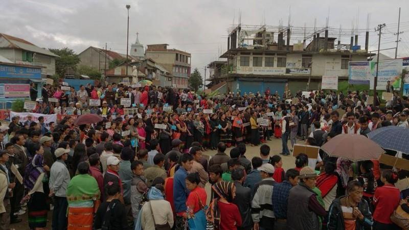 Protest In Ukhrul, Manipur