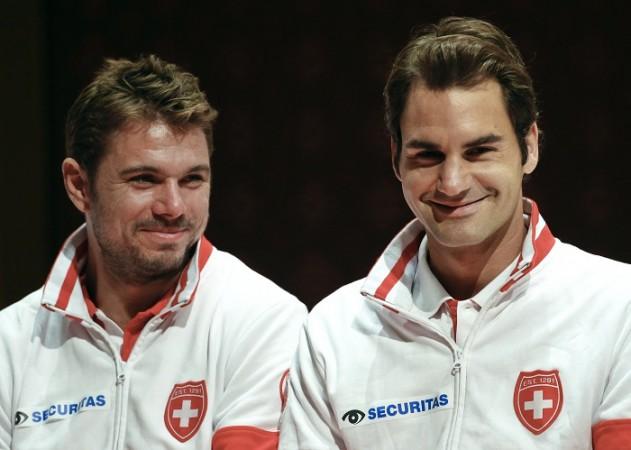 Stanislas Wawrinka Roger Federer Switzerland Davis Cup
