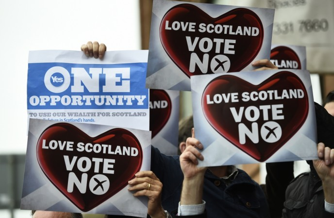 Almost half the people who intend to vote No on Scottish independence have said they felt