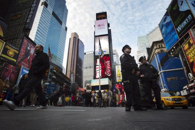NYPD has increased its security at times square for the ISIS threat.