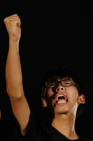 Joshua Wong is a 18-year-old Hong Kong student who runs pro-democracy movement of as much as 120,000 youths.