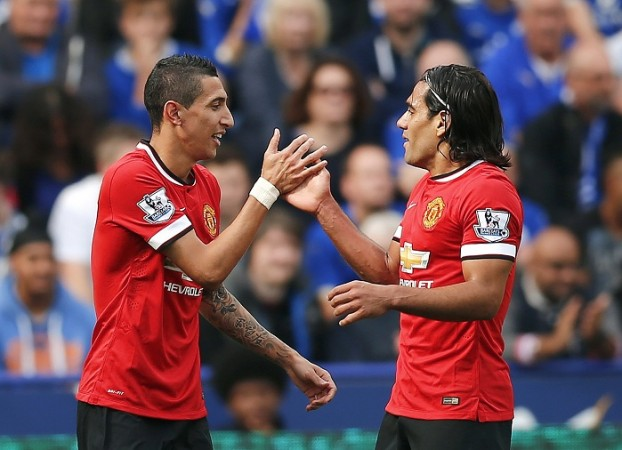 Angel Di Maria Radamel Falcao Manchester United