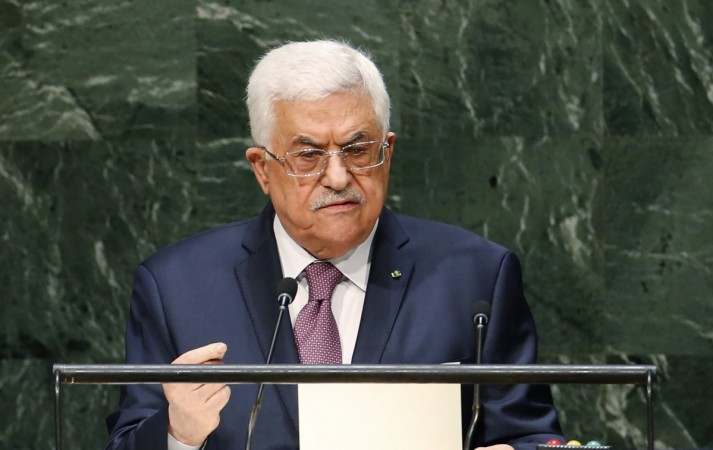 Palestinian President Mahmoud Abbas addresses the 69th United Nations General Assembly at United Nations Headquarters in New York, September 26, 2014.
