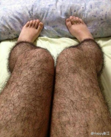 Weird invention Hairy leg stockings