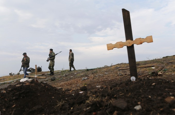 Donetsk Ukraine mass grave