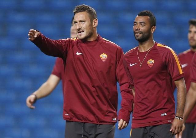 Francesco Totti Ashley Cole Roma
