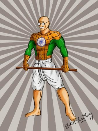 Spiderman Gandhi