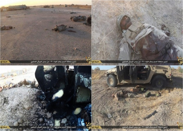 ISIS fighters dressed as Iraqi soldiers carried out a suicide attack at Camp Saqwaliya hours before the base fell into the hands of Islamic State on 21 September.