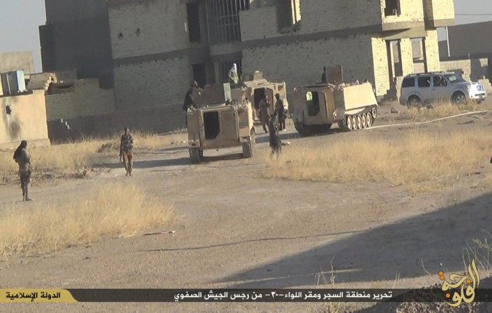 Several armoured vehicles captured by ISIS