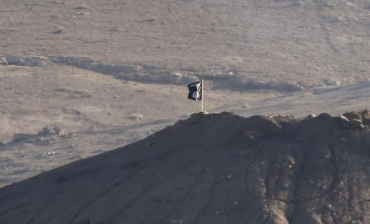 An ISIS flag in Kobane